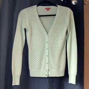 Light mint sparkle cardigan